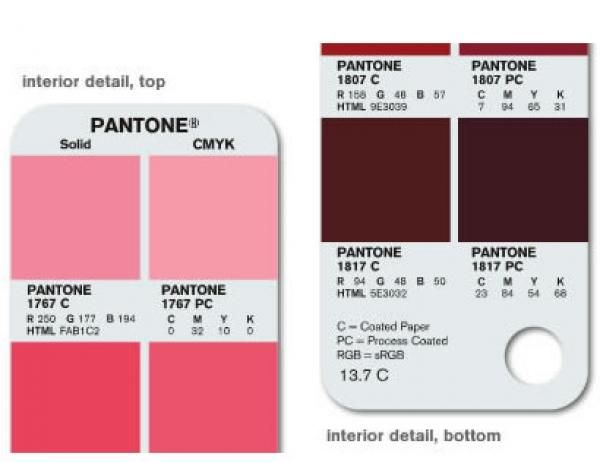 Pantone Color Bridge Guide page01